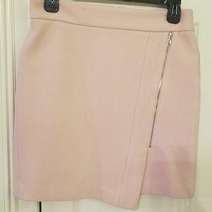 White House Black Market Lt Pink Moto Skirt